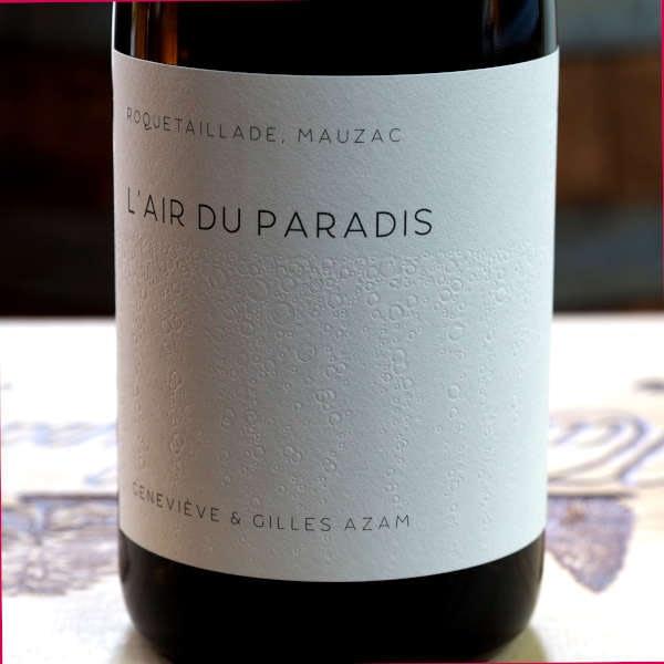Domaine Les Hautes Terres Limoux L'Air du Paradis - front label close-up