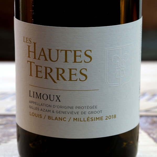Domaine Les Hautes Terres Louis 2018 - label close-up front
