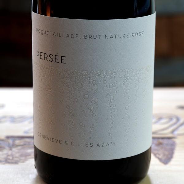 Domaine Les Hautes Terres Limoux Persée - front label close-up