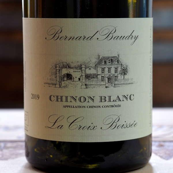 Domaine Bernard Baudry Chinon blanc La Croix Boissée 2019 - front label close-up